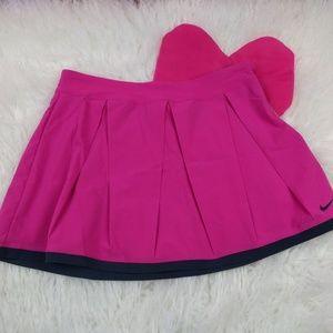 @ Nike sz S Pink Tennis Skirt Pleated Black